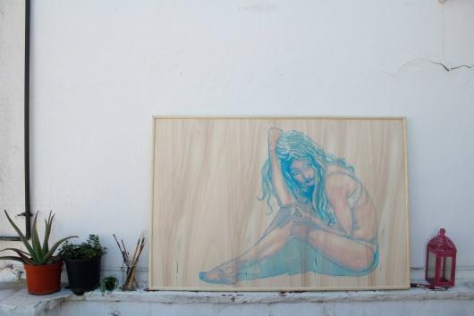 Blanca de la Torre Visual Artist painter illustrator acrylic art ilustrador illustration ilustración arte artista plástico pintor artístico emerging emergente contemporary