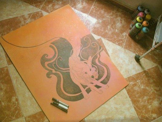 Blanca de la Torre Visual Artist sketch ink painter illustrator acrylic art ilustrador illustration ilustración arte artista plástico pintor artístico emerging emergente contemporary sreetart Valencia España Spain