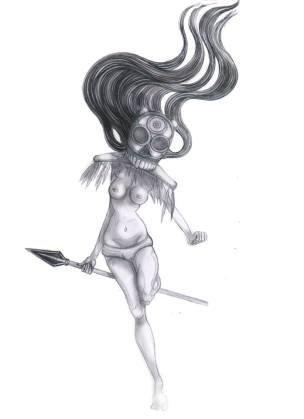 Visual artist: Painter & illustrator from Spain. Blanca de la Torre. The Shaman