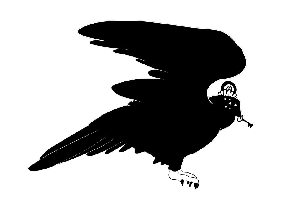 Pájaro y llave