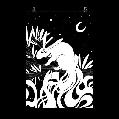 Noche & Rama - Lámina